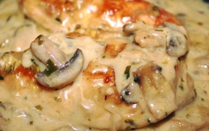 recette Blancs de poulet aux champignons à la moutarde ...