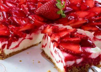 Cheesecake-aux-fraises