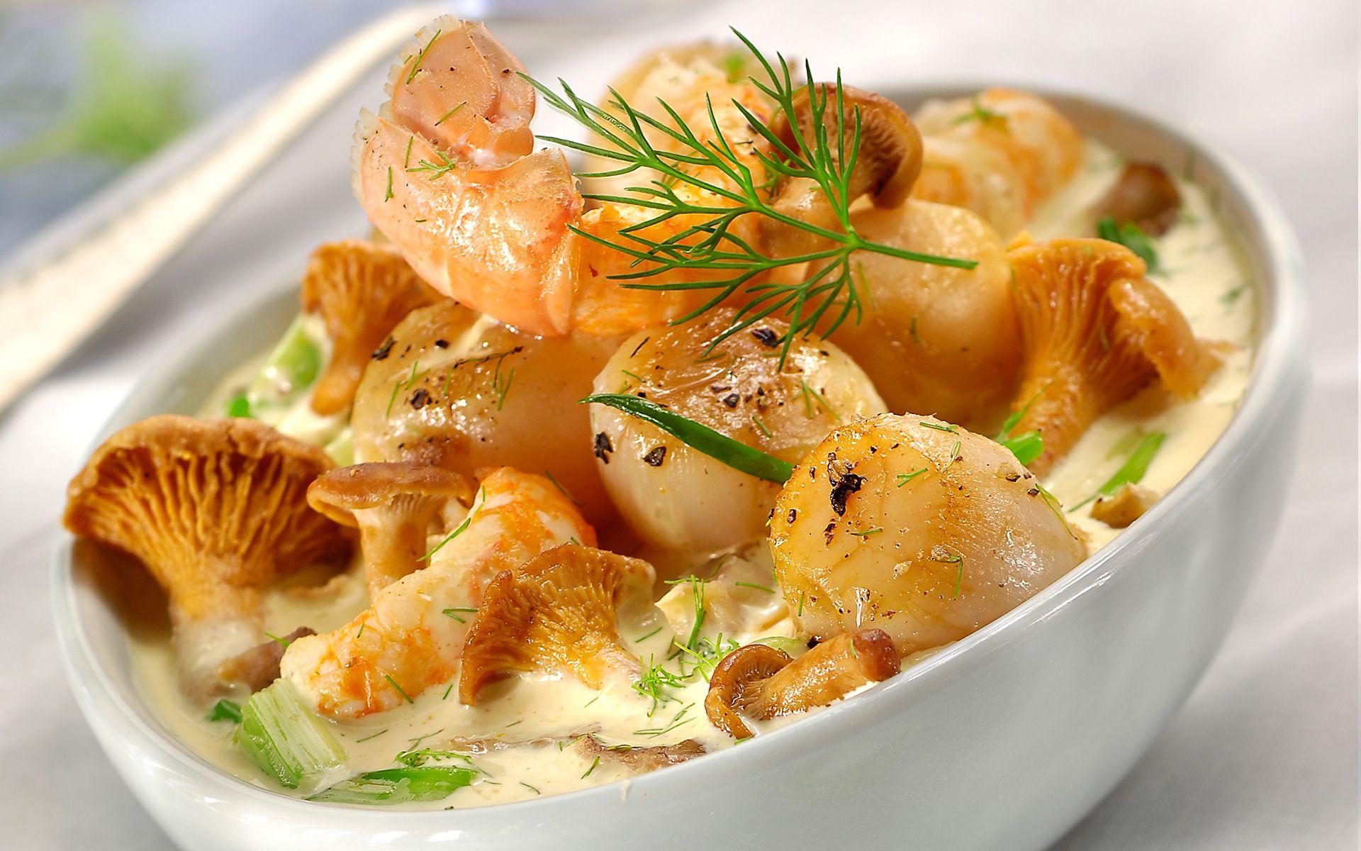 recette Cassolette de noix de saint jacques et de ...