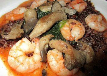 Crevettes sautées sauce homardine