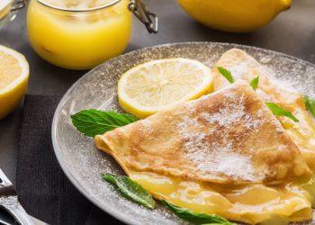 Crêpes au lemon curd