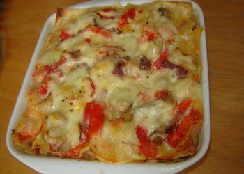 Lasagnes saumon-jambon fumé