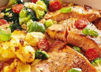 cassolette de saumon sauce armoricaine-min