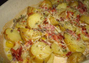 Gratin de pommes de terre au jambon cru