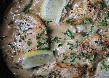 escalopes-poulet-creme-champignon-fromage