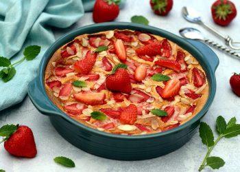 Gratin aux fraises et amandes