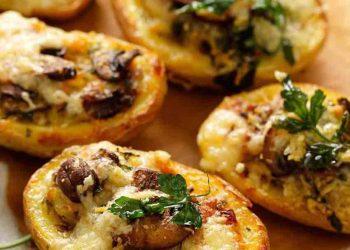 Pommes de terre gratinées fromage et champignons