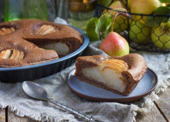 Gâteau aux poires et au chocolat