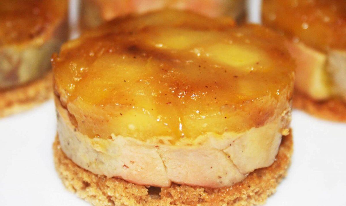 Tartelettes au foie gras aux pommes