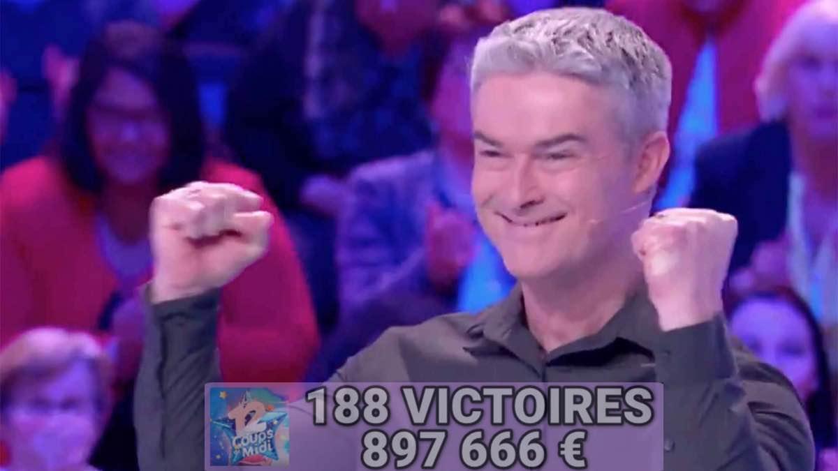 Les 12 coups de midi : Eric plus près des 900 000 Euros et se lance pour une étoile mystérieuse