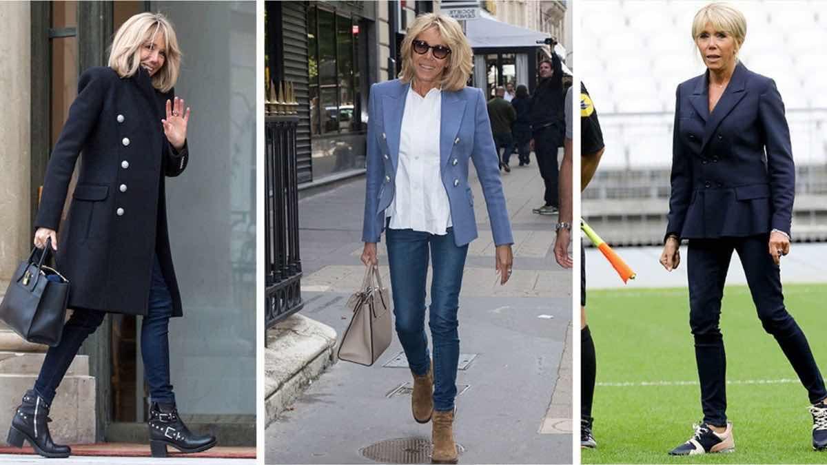 Brigitte Macron : plus décontractée que jamais dans son style « casual-chic », retour à la source.