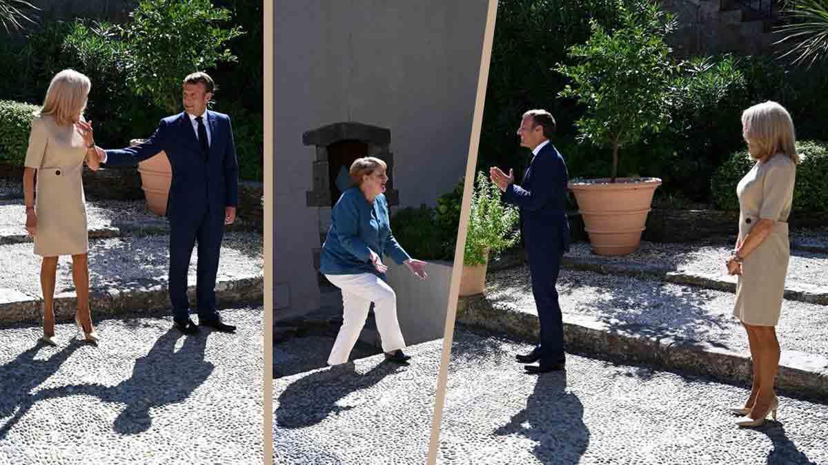 Brigitte Macron a de nouveau fait sensation dans sa nouvellerobe courtedévoilant ses belles jambes bronzées.