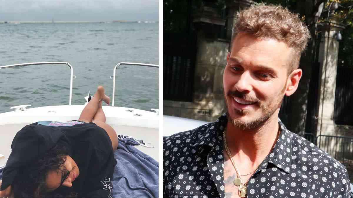 Matt Pokora taquine Shy'm en bikini sur un bateau.
