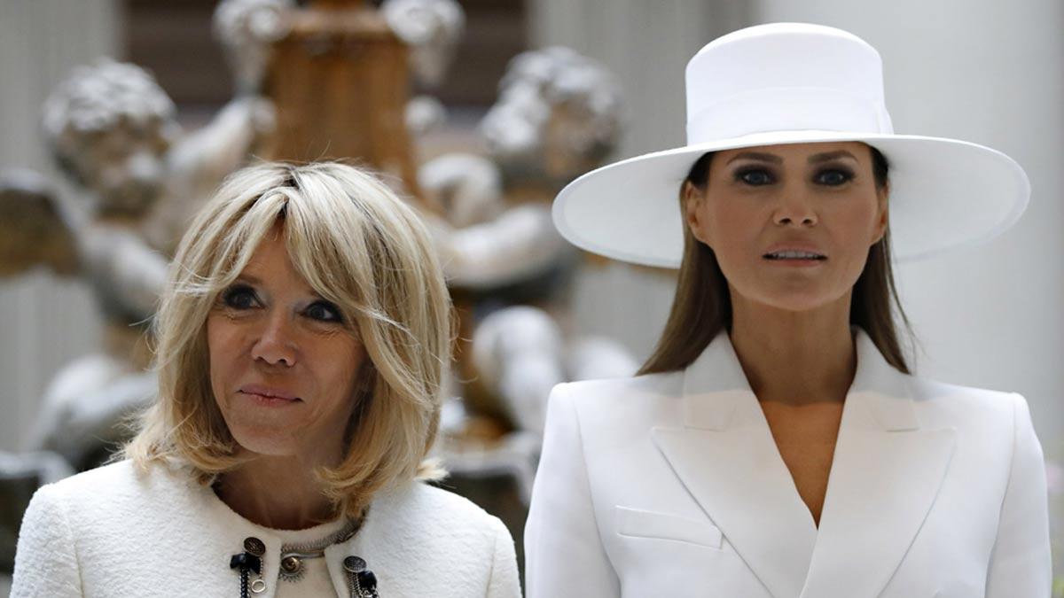 Melania Trump : ce jour où la first lady américaine a relégué Brigitte Macron au second rang !